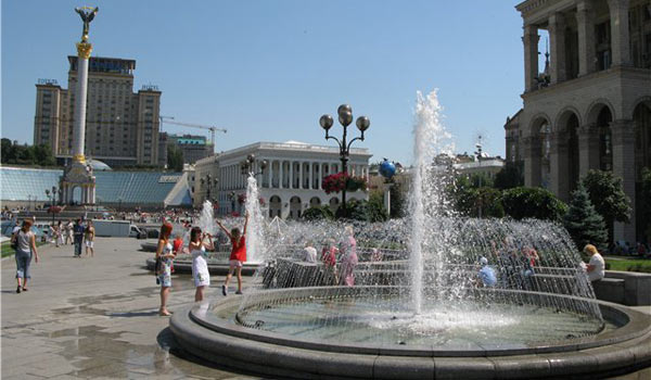 Жара в Киеве тоже