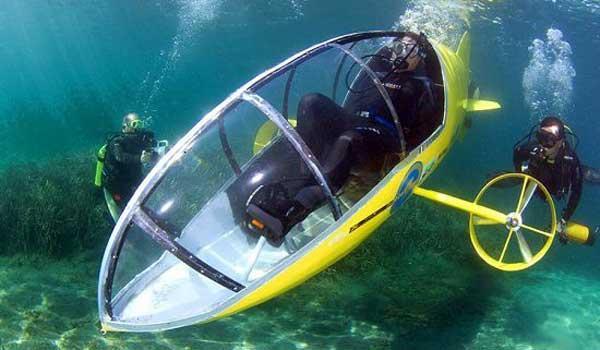 Французы изобрели подводный велосипед
