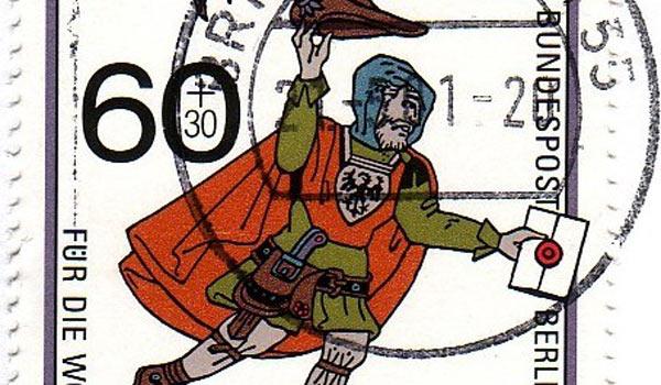 Почтовая марка в память о «почте мясников»