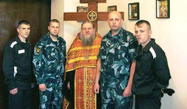 После Пасхального богослужения в тюремном храме ФГУ ИК-9 г. Борисоглебска