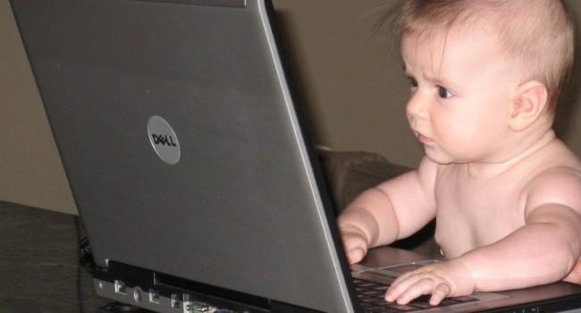 Дети и компьютер.