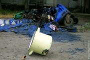 Одесса, 2006 год. Пожар уничтожил бак для мусора.