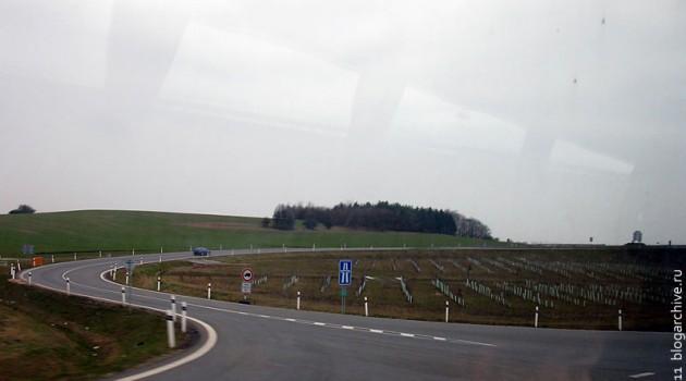 Дорожная развязка где-то в Чехии.