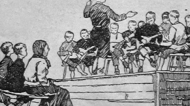Праздничный концерт в сельском клубе. 1927 год.