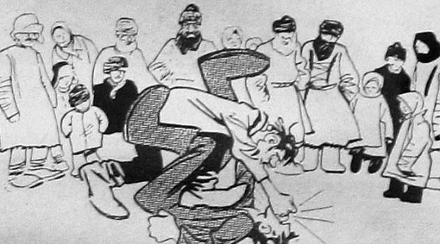 Деревенский спектакль. 1927 год.