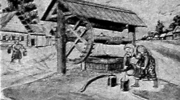 Благоустроенный колодец. 1927 год.