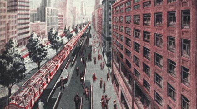 Неосуществленный проект освобождения от автомобилей. США, 1957 год.