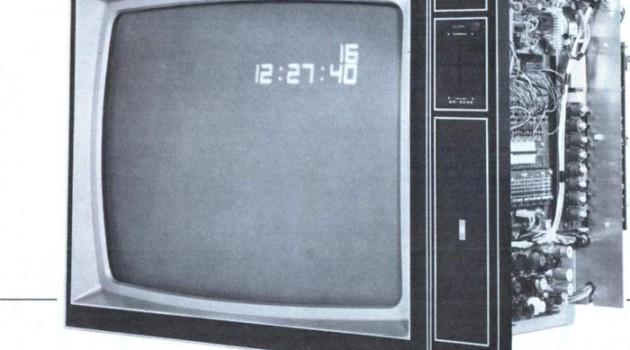 Цветной телевизор GR-2000 TV. США, 1974 год.