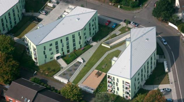 Микрорайон социального жилья Buchheimer Weg в Кельне. 2012 год.