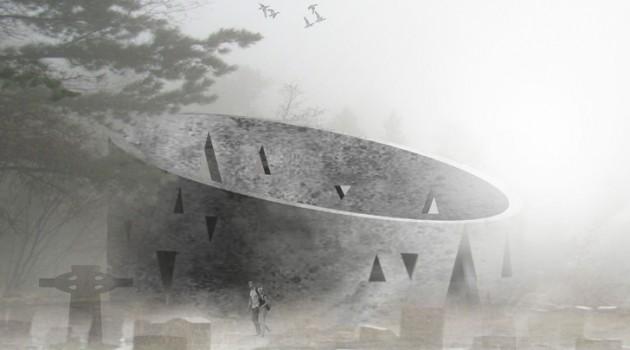 Кладбище XXI века в Мексике — башня мертвых.