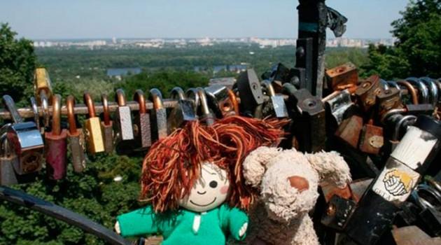 Игрушки-путешественники в Киеве.