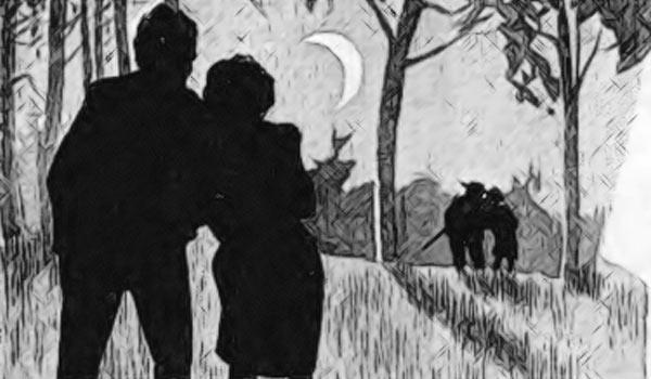 Советский инженер Иван Тасин гуляет по лесу при луне с вдовушкой