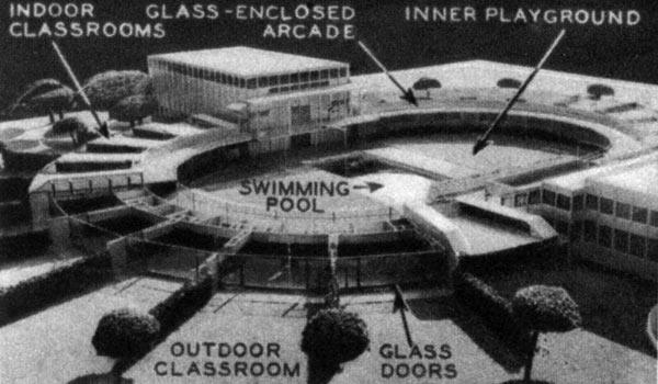 Проект школы в Лос-Анджелесе, 1934 год