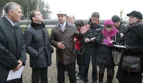 Дмитрий Медведев на острове Кунашир
