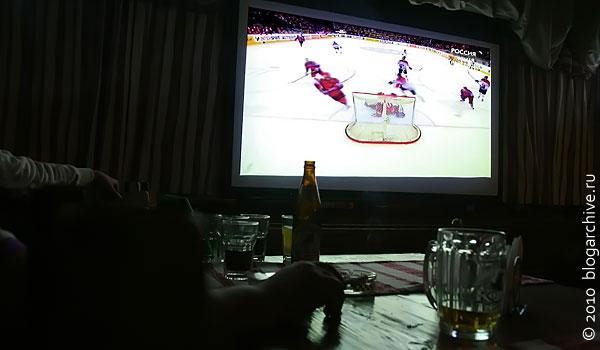 Большой хоккей на большом экране