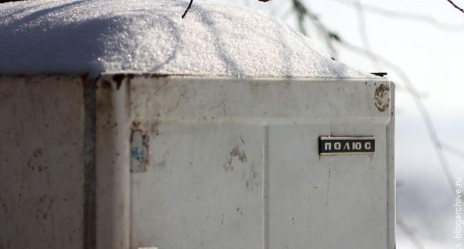 Холодильник Полюс, по которому я учился читать.