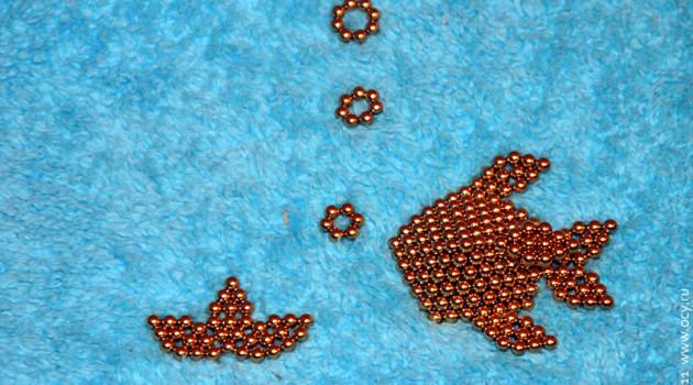 Рыбка из магнитых шариков: неокуб.
