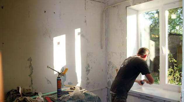 В квартире за 560 тысяч идёт замена окна.