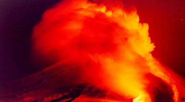 Извержение исландского вулкана Гримсвотн.