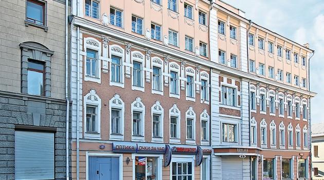 Бывший доходный дом на Маросейке, спроектированный в начале XX века архитектором Ф. Кольбе.