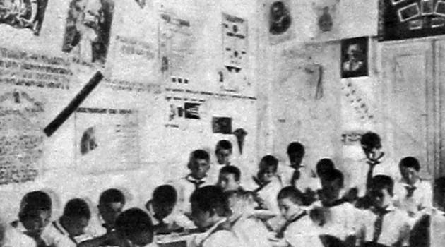 Бывшие беспризорники в доме ребенка РОКК. 1927 год.