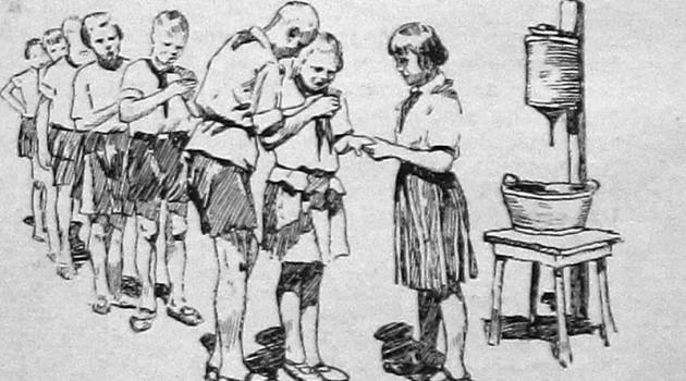 """Новое и старое в деревне. """"Здоровая деревня"""". 1928 год."""