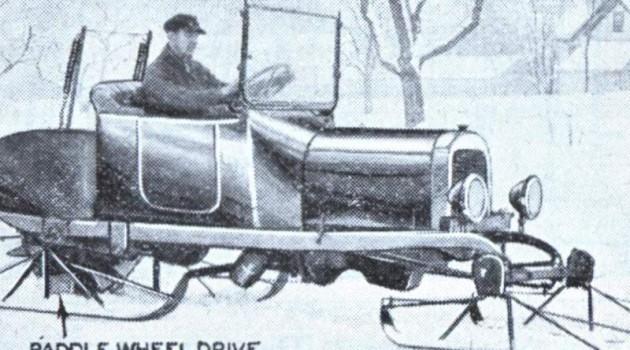 Самодвижущиеся сани в Норвегии. 1930 год.
