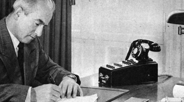 Первый телефонный автоответчик. США, 1950 год.