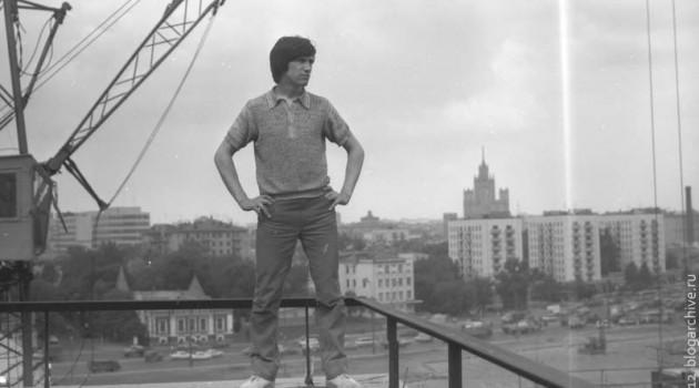 На стройке. Москва. 1986 год.