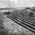 Строительство сети по добыче и транспортировке природного газа в США. 1930 год.