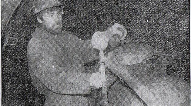 Забойщик Эдуард Ефремов.